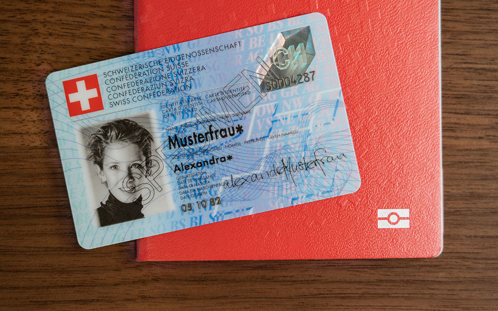 The Swiss passport and the identitiy card